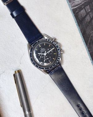omega speedmaster Blue Shell Cordovan Watch Strap