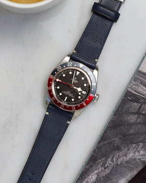 tudor GMT pepsi with Blue Leather Watch Strap