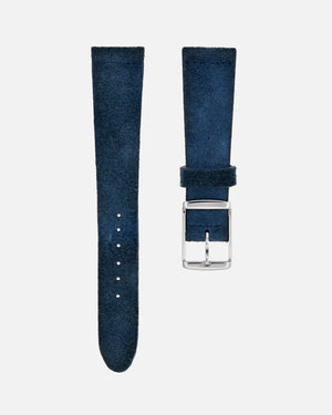 Deep Ocean Blue Suede Watch Strap