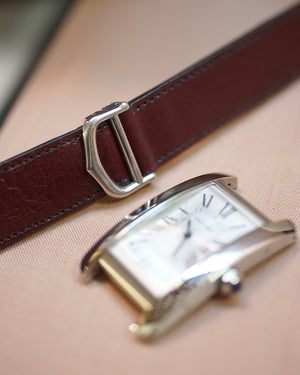 Antique Bourbon Calfskin Strap for Cartier