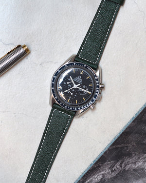 omega speedmaster with green watch strap