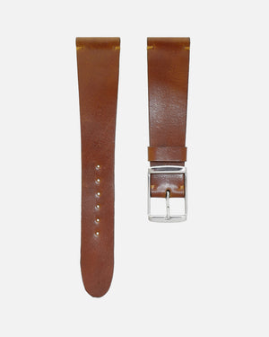 Unlined Caramel Brown Shell Cordovan Watch Strap