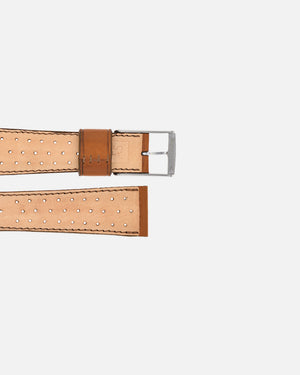 Brown Racing Leather Watch Strap