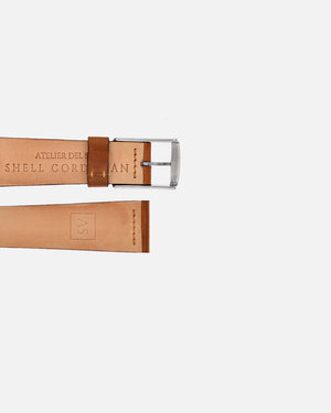 Natural Brown Leather Watch Strap