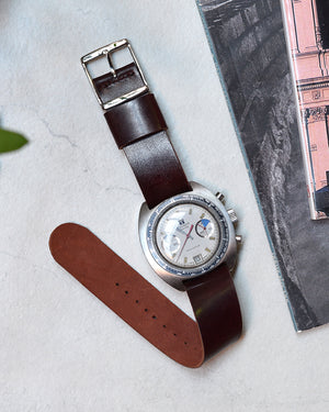 tissot navigator on Burgundy nato Shell Cordovan Watch Strap