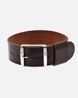 Burgundy Single-Piece Shell Cordovan Watch Strap