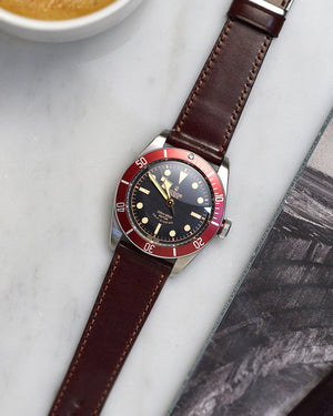 tudor red Burgundy Shell Cordovan Watch Strap