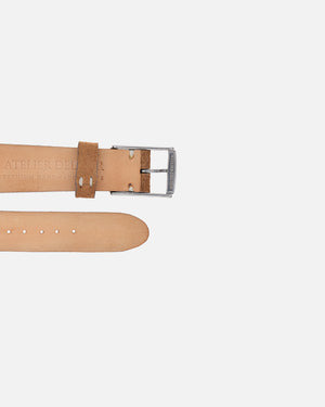 Camel Brown Suede Minimal Watch Strap