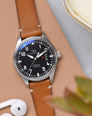 IWC mark XVII with Brown Leather Watch Strap