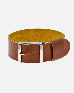 Caramel Brown Single-Piece Shell Cordovan Watch Strap