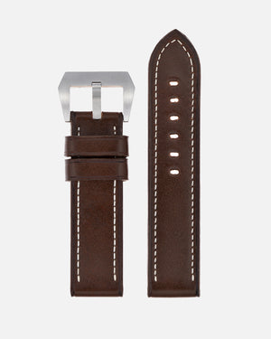 Chocolate Brown Calfskin Strap for Panerai