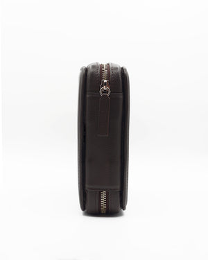 Dark Brown Leather Case For Four Watches