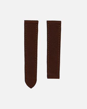 Dark Brown Calfskin Strap for Cartier