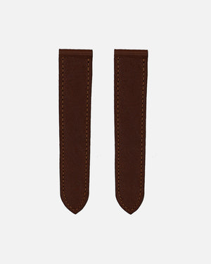 Dark Brown Calfskin Strap for Cartier Deployant