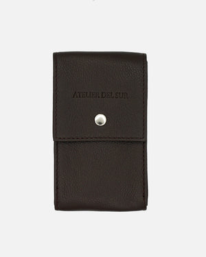 Dark Brown Leather Watch Pouch