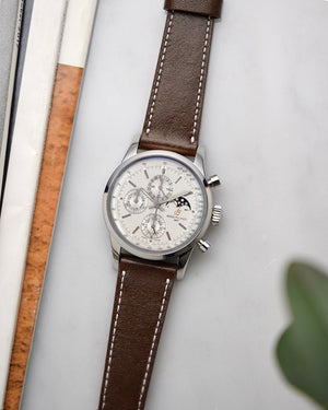breitling chronograph with Dark Brown Leather Watch Strap