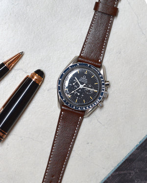 omega moonwatch Dark Brown Leather Watch Strap
