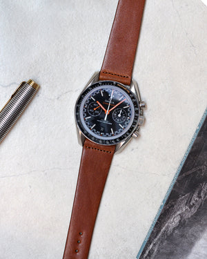 omega with Brown Leather Watch Strap
