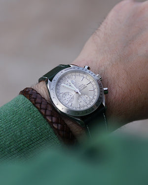 British Green Leather Watch Strap