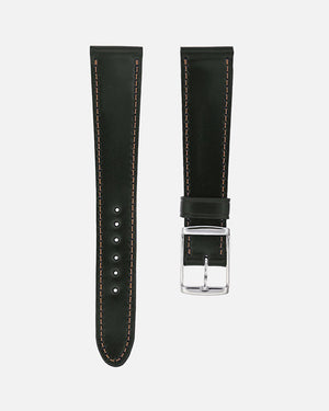 Green Contrast Stitch Shell Cordovan Watch Strap