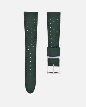 British Green Racing Leather Watch Strap