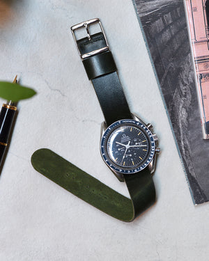 omega speedmaster with green nato strap