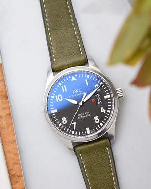international watch company leather strap