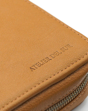 Honey Brown Leather Folio For Ten Watches