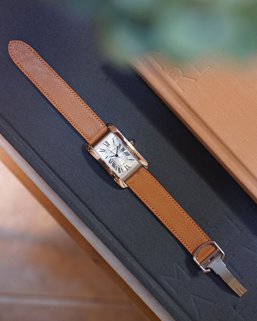 Light Brown Calfskin Strap for Cartier