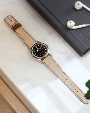 The Homem Watch Strap In Light Taupe Grey
