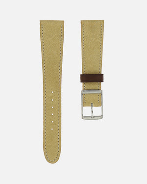 mustard leather watch strap