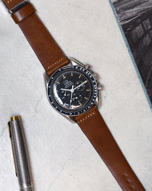 omega speedmaster moonwatch brown watch strap