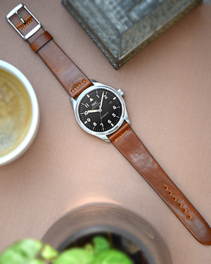 IWC mark 18 on Natural Brown Leather Watch Strap