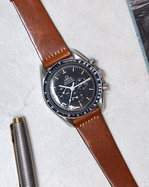 omega Brown Leather Watch Strap
