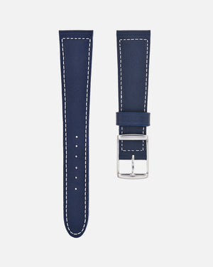 Navy Blue Boxed Stitch Watch Strap
