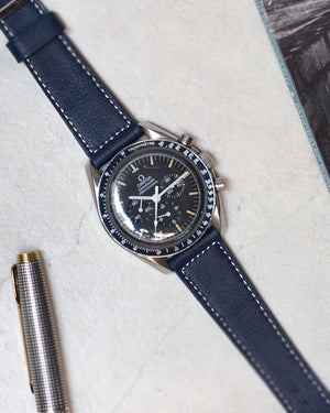 omega Navy Blue Boxed Stitch Watch Strap