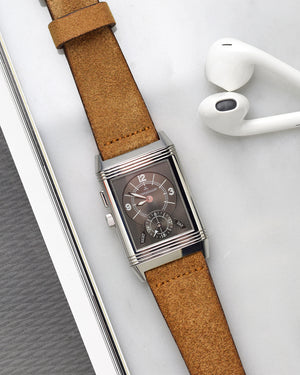 Suede Brown Watch Strap for JLC reverso