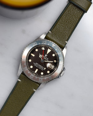 rolex pepsi 1675 with green Watch Strap