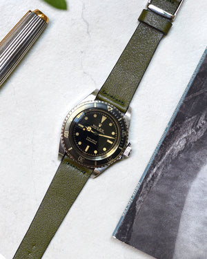 rolex submariner guilt leather strap