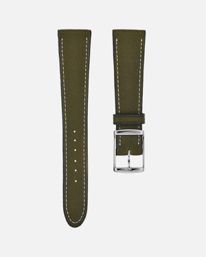 Olive Green Calfskin Watch Strap