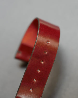 Unlined Oxblood Shell Cordovan Watch Strap