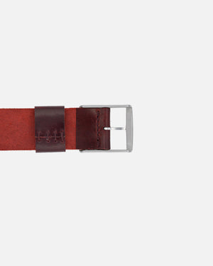Oxblood Single-Piece Shell Cordovan Watch Strap