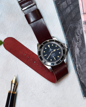 leather nato strap for tudor 7928