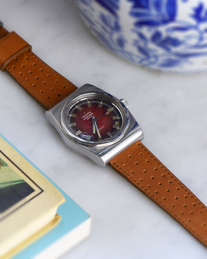 zenith with Brown Racing Leather Watch Strap