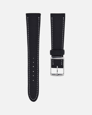 Soft Black Leather Watch Strap