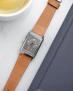 JLC reverso handmade leather strap