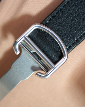Black Calfskin Strap for Cartier Deployant