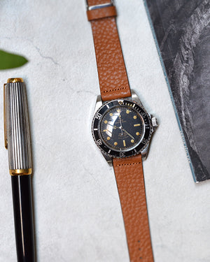 tudor 7928 submariner Textured Light Brown Watch Strap