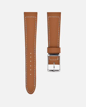 Light Brown Boxed Stitch Watch Strap
