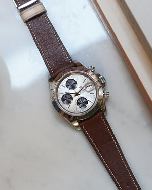 tudor chronograph brown strap